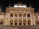 vienna state opera, at night
