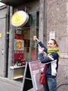 barbara at innsbruck's own little, locally owned coffy shop. i wish i would't hate the taste of coffee that much!