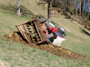 . 2007-03-12, Sony DSC-F828. keywords: tractor, traktor, accident, agriculture, landwirtschaft, shit happens