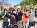 extreme icecream-eating: alexander, tobias, thomas, emanuel, oliver, martin and hannes