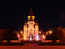 timisoara orthodox cathedral (built 1936-1946), at night