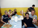 post-concert-gettogether - michael, thomas, wolfgang, phillipe, bene, armin & david. 2007-04-14, Sony F828.