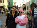 i had my picture taken with the easter bunny!