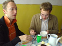andi & mathias, breakfast (!) in romania