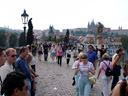 charles bridge, crowded with tourists. 2007-05-25, Sony F828. keywords: karl?v most