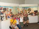 the most unlikely remembering-prague- group-photo ever :). 2007-05-26, Sony F828. keywords: toy museum hracek prague, spielzeugmuseum hracek prag, barbie, collection johanna steiger, barbie exhibition