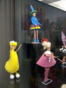 unreleased barbie fashion - including the chiquita banana costume. 2007-05-26, Sony F828. keywords: toy museum hracek prague, spielzeugmuseum hracek prag, barbie, collection johanna steiger, barbie exhibition