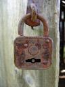 rusty old padlock