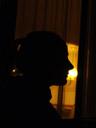barbara's silhouette. 2007-05-11, Sony F828.