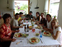 mother's day family lunch - mom, andreas, anton, dad, andrea, grandma, tom, sandra