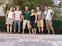 most unusual prague group photo #2 - anna, fritz, philipp, nicole, stefan, markus