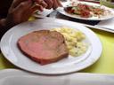 oddly multicolored meatloaf. 2007-06-24, SonyEricsson K750i. keywords: leberkäse