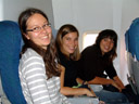 lisi, marion and barbara - on the last of three consecutive flights. 2007-08-31, Sony F828.