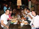 dinner at joe's beer house - annemarie, david, daniela, christian, barbara, maria, barbara ... vera, eva, johanna, aaron and serry. 2007-08-31, Sony F828.