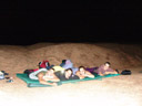 our open-air sleeping berth - christian, miriam, barbara & markus. 2007-09-01, Sony F828.