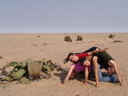 two welwitschias ;-). 2007-09-03, Sony F828. keywords: barbara, miriam, christian markus