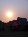 sunset at swakopmund restcamp