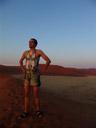 i bet there aren't many photos like this one from dune 45 :-). 2007-09-05, Sony F828. keywords: lederhosen, wüste, leather trousers, desert, namib, sossusvlei, dune45, dune 45, yodel