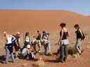 ...and of course: botanists botanizing in the desert :-). 2007-09-05, Sony F828.