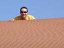 markus on the dune. 2007-09-05, Sony F828.