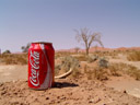there's nothing like a cold coke after a desert walk. 2007-09-05, Sony F828. keywords: coca cola, advertisement, desert, namib, sossusvlei