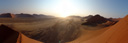 panorama: sunrise at dune 42 (sossusvlei). 2007-09-04, Sony F828.