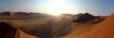 panorama: sunrise at dune 42 (sossusvlei). 2007-09-04, Sony F828.