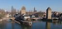 panorama: petit france, strasbourg. 2008-02-19, Sony F828.
