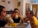 extreme banana milkshake consumption w/ barbara & chris