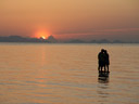 koh samui sunset with couple
