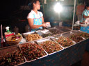 night market - fried insects. 2008-08-17, Sony F828.