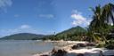panorama: lamai beach (hat lamai). 2008-08-21, .