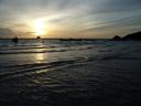 windy sea sunset