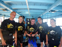 diving course classmates: flo, lotte, cian, markus & mathias. 2008-08-22, Pentax W60. keywords: big blue diving open water