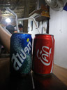 sprite and coca cola, in thai writing. 2008-08-24, Pentax W60.