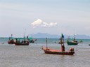 colourful thai fishing cutters