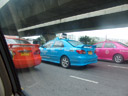 there were taxicabs in all colours imaginable