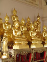 buddha statues, wat saket. 2008-09-09, Sony F828. keywords: wat saket ratcha wora maha wihan, phukhao thong