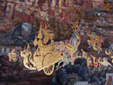 mural at the grand palace, wat phra kaew