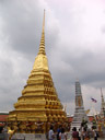 golden chedi and prangs (temple spires)