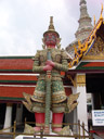 suriyaphob, one of twelve giant demons (yaksha) that guard the gates of wat phra kaew
