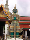 indrajit, one of twelve giant demons (yaksha) that guard the gates of wat phra kaew