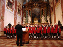 wilten boys' choir in st. rochus church, vienna