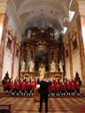 wilten boys' choir in st. rochus church, vienna