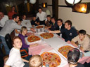 after the concert - jan, michael, florian, mathias, wolfgang, daniel, mathias, sebastian, herbert, simon and david. 2008-09-20, Sony F828.