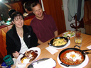 cindy and larry, palatschinkenhaus (pancake house), vienna
