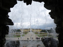 schönbrunn palace, view through the neptune well