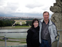 cindy and larry, on top of the gloriette