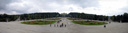 panorama: great parterre and gardens of schönbrunn, schönbrunn palace