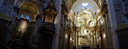 panorama: church of st. charles, vienna, high altar